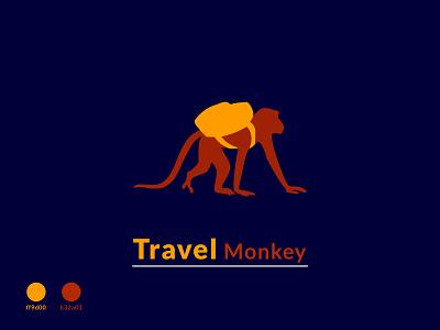 Travel Monkey logo stylish logo modern logo illustration monkey vector unique logo master pieces logo travel monley logo color monke monkey stylish monkey background monkey logo color vector monkey monky stylish new monkey travel logo flat logo minimalist logo monkey logo travel monkey