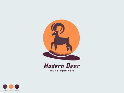 Modern Deer deer style modern logo deer background unique logo deer design deer illustration logo stylish logo minimalist logo flat logo stylish deer vector deer deer vector dear modern dear logo dear logo modern deer