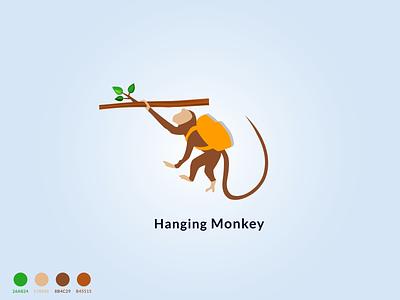 Hanging Monkey flat logo branding illustration logo stylish logo unique logo monkey flat best monkey vector monkey monkey vector monkey vector logo monkey logo vector monkey master logo king of monkey monkey king monkey best logo logo of moneky hanging monkey monkey logo