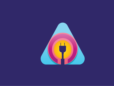 Electricity Icon Logo design ui ux logo minimal illustration product design graphic design branding
