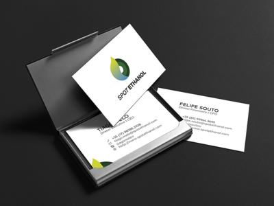 Logo + Business Card startup target branding ethanol business card logotipo