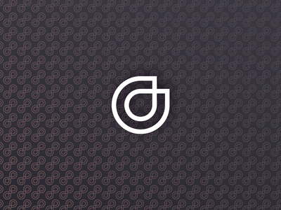 Pattern + Logo monogram dd hourglass doctor antiaging logo pattern