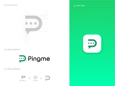 Pingme logo design 3d motion graphics animation vector illustration icon design brand graphic design branding logo ui