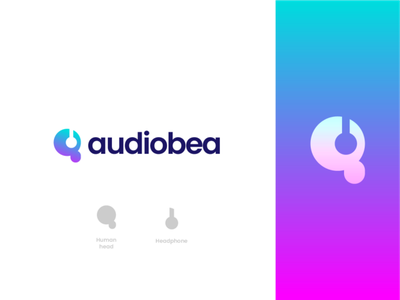 audiobea logo design mobile songs song music stream audio daily ui daily uidaily dailyui ux typography vector ui logo illustration icon graphic design design branding