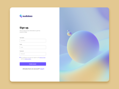 audiobea sign up form form sign in sign up ui daily daily ui dailyui typography ux vector illustration icon design branding logo motion graphics graphic design 3d animation ui
