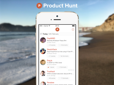 Product Hunt for iOS product hunt ios ios7 icon app orange white