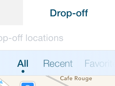 Travel Destination Selection ios sketch iphone minimal