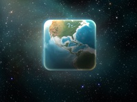 One layer earth icon