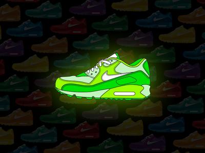 "Nike Airmax 90 ""Glow in the dark"""