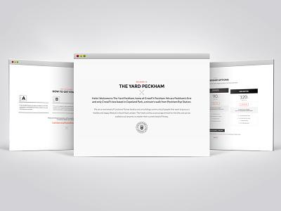 Crossfit Screens minimal clean white space pricing table webdesign website crossfit