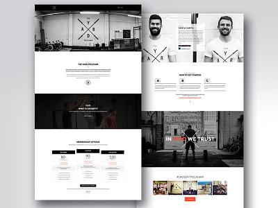 Crossfit Website Design crossfit webdesign crossfit website layout website crossfit