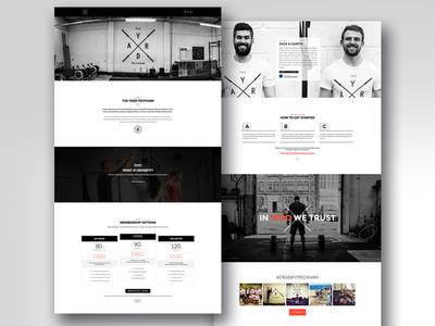 Crossfit Website Design