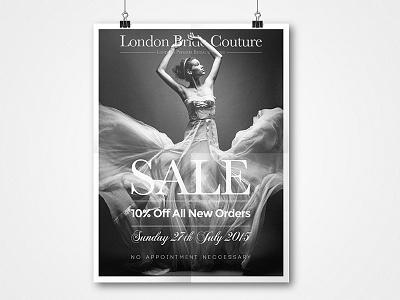 Sale Poster wedding dress wedding mockup typography poster sale bridal