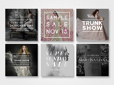 Blog Thumbnails bridal wedding typography thumbnails wordpress blog