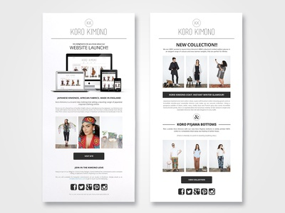 Html Email Campaign ecommerce e-commerce mailout mailchimp newsletter email html