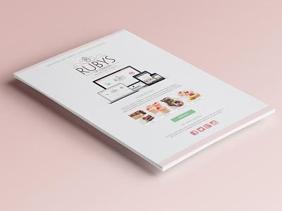 Promotional Flier cupcakes cakes pink bakery vegan leaflet print poster promotion flier
