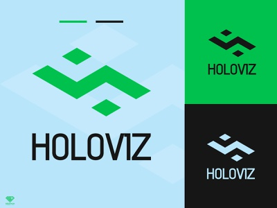 HOLOVIZ Logo Design holoviz holoviz icon design illustrator logo minimal graphic design branding
