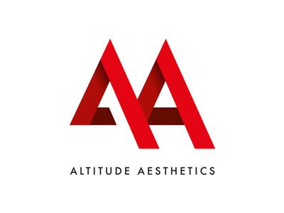 Altitude Aesthetics logo branding clothing gym aa minimal geometric vector illustrator altitude aesthetics brand