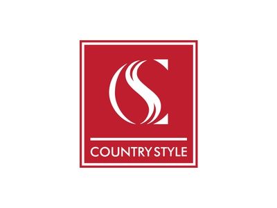 Country Style logo red branding country style square box ligature cs negative outdoors clothing