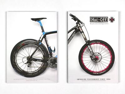 Muc-Off Catalogue re-brand catalogue cycling bicycle litho bike corporate branding muc-off layout print