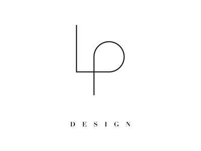 LP Design minimal minimalism icon logo ligature branding architect design lp simple line architectural