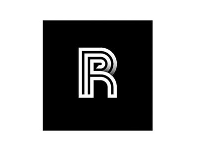Concept logo design rp r black stroke minimal line typography lines rejected simple mono typologo