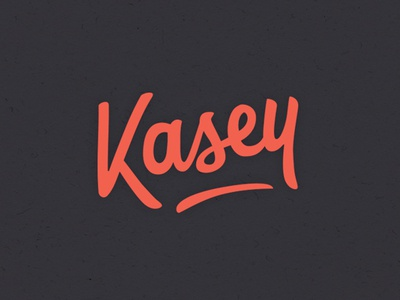Kasey typeface font lettering typologo name type logo hand drawn kasey calligraphy red