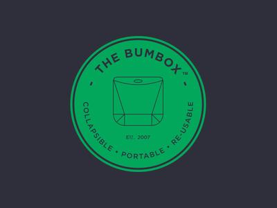 Bum Box type logo company branding box icon brand recycle simple cardboard circle bum