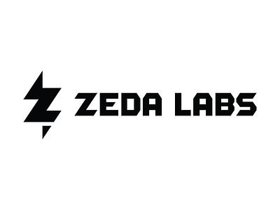 Zeda Labs Logo Finalized brand mark icon typography type pencil lightening z bolt geometric logo zeda labs