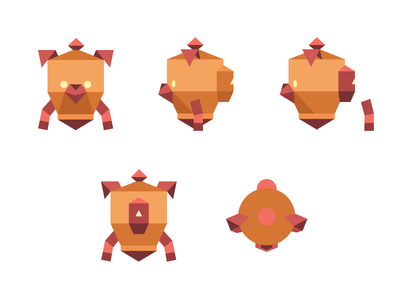 Zulu - Comic book character digital character illustration flat geometric polygon robot dog