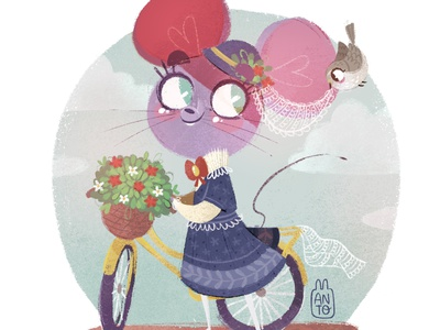 London Mouse bike ride bike bird cute mouse london characterdesign children book illustration childrens illustration digital procreate digital painting digital art digitalart illustration children