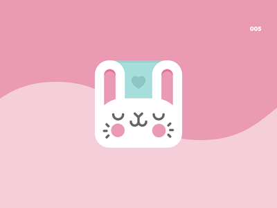 Daily UI - 005 digital application icondesign design cute bunny icon appicons appicon app ux ui  ux uiux uidesign ui design ui