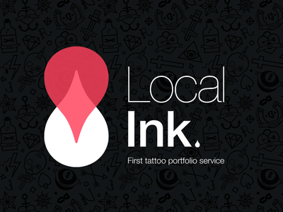 Local Ink Logo logo tattoo local ink geolocation