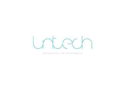 Intech logo innovative logo thin round