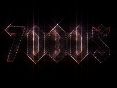7000$ Logo logo 7000 band rock after effects plexus trapcode shine