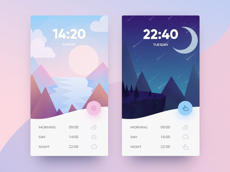 Weather App weather mountain ui material dashboard vector illustration application app