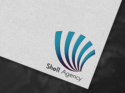 Shell Agency logo travel blue shell branding design logodesign logo design illustration logo