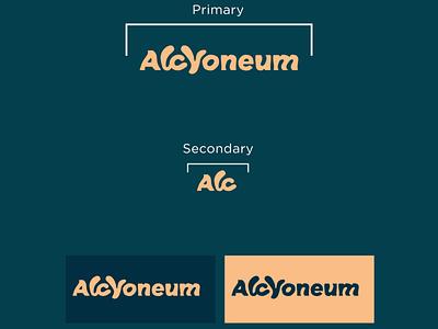 Alcynoneum logo design sea teal branding seafood logo illustration design