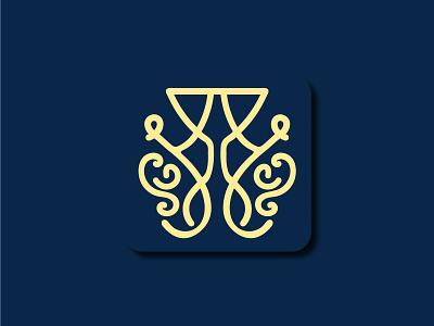 Beauty Match Logo stylish yellow blue design branding logodesign logotyp logo