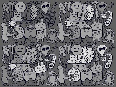 Doodle characters illustrations gray design illustration illustrator doodle art doodleaday doodling doodleart doodles doodle