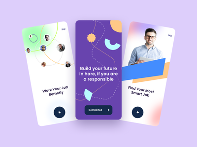 Onboarding for Mobile Apps graphic design minimal web app ux vector ui branding mobile design onboarding