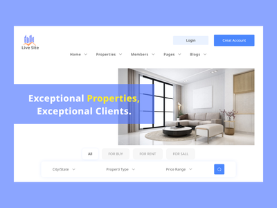 Real Estate Landing Page Design minimal web landing page real estate house webdesign website trendy design uxdesign desigen creative design ui