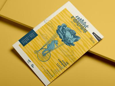 Fabrique d'imaginaire Saison 1 festival poster finistère bretagne sea nature festival illustration bzh vector identity