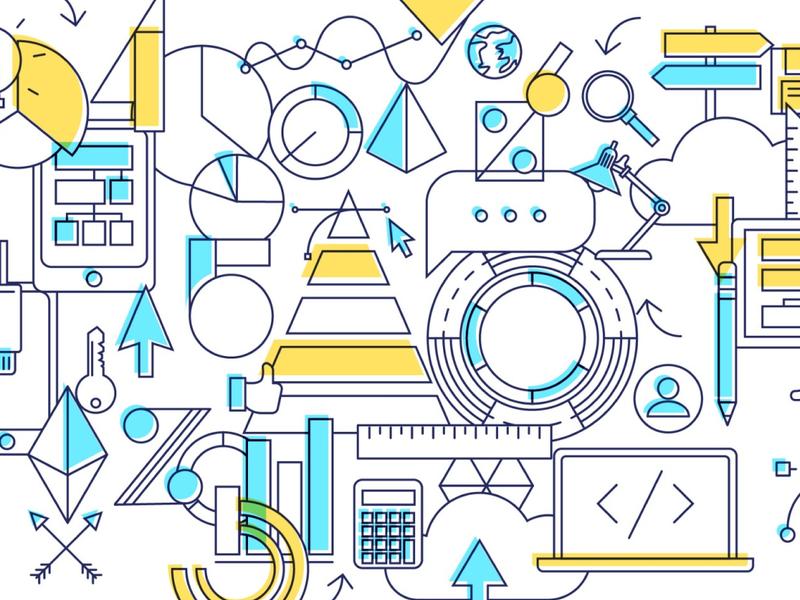 BRANDING numeric tech vector branding nantes illustration identity