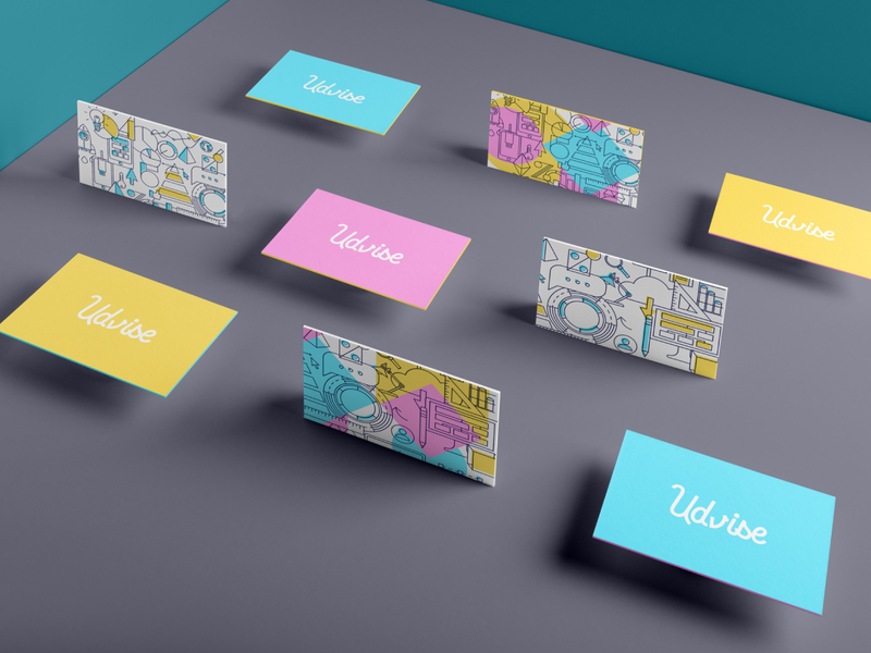 BRANDING bonbon visit card numeric data tech branding nantes logotype illustration identity vector