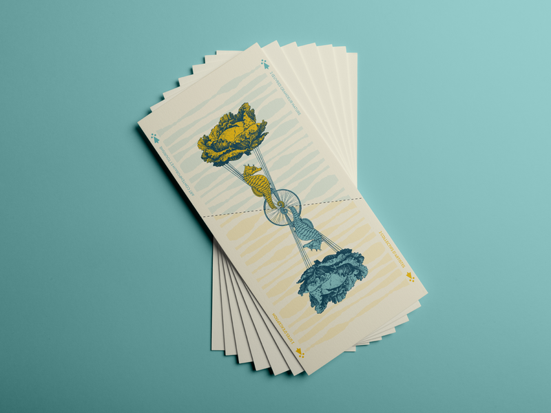 Invitation Concept #2 sea vegetable nature gig flying reverse recto verso cards dream bretagne