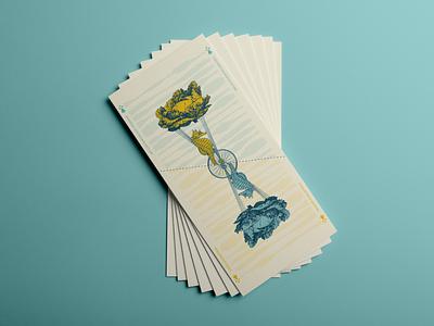 Invitation Concept #2 sea vegetable nature gig flying reverse recto verso cards dream bretagne