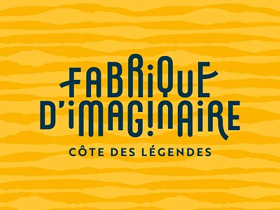 Fabrique d'imaginaire legend typografy type brittany sea bzh bretagne design logotype vector logo identity