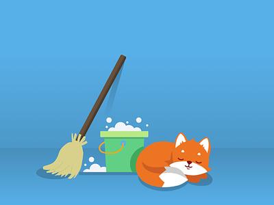 Illustration clean fox illustration cleanfox