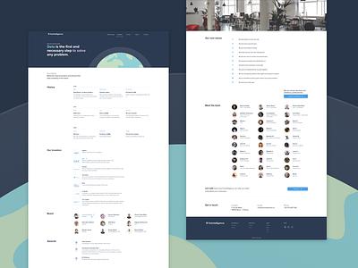 Corporate website foxintelligence web design